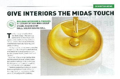 Give Interiors The Midas Touch